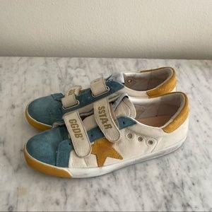 Golden Goose superstar old school mustard sneakers